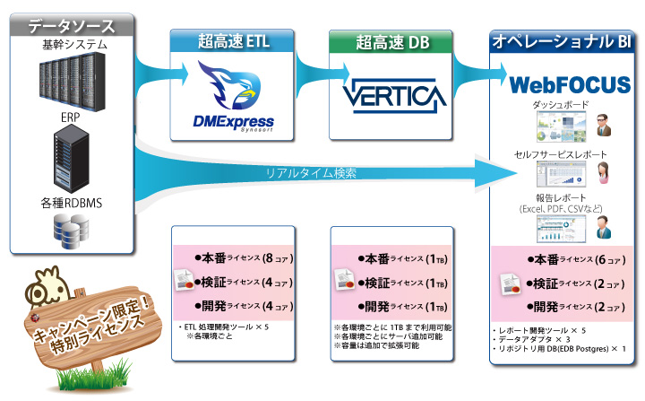 WebFOCUS TurboV Anniversary Package システム構成図
