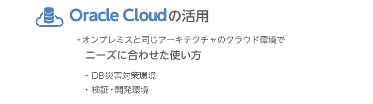 Oracle Cloudの活用